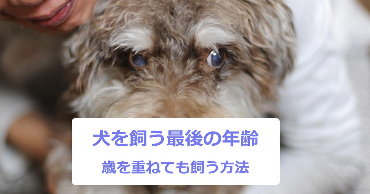 犬を飼う最後の年齢